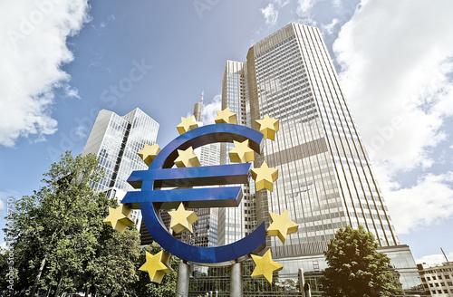 Leinwandbild Motiv Euro ECB
