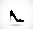 Black high heels icon vector - 70005131