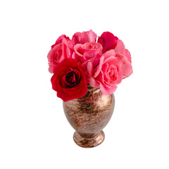 bouquet of roses are on  white background