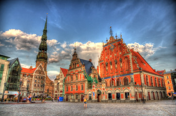 Riga Town Hall (Albert) Square - Latvia