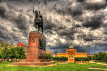 Statue of King Tomislav in Zagreb, Croatia