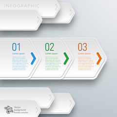 Infographics Vector Background #White Arrows