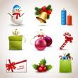 Zdjęcia na płótnie, fototapety, obrazy : Christmas icons set