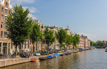 A canal in Amsterdam, Netherlands