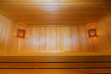 classic wooden sauna inside