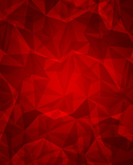 Beauty and fashion concept stylish red background