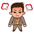 怒るビジネスマン