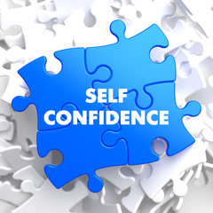 Self Confidence on Blue Puzzle.