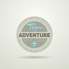 Adventure Flight Vintage Badge, vector