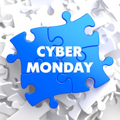 Cyber Monday on Blue Puzzle.