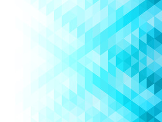 Blue abstract geometric background with triangles