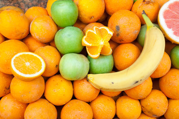 beautiful background of fruit