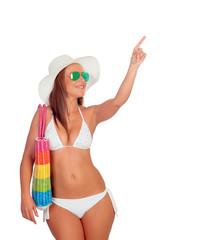 Sexy woman in bikini with sunglasses