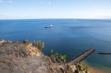 sea ​​with boats of Tenerife