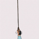 Helpless Woman Holding Rope poster