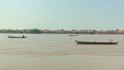 Group of Fishermen on the mekong river