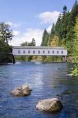 Oregon Covered Bridge in early fall