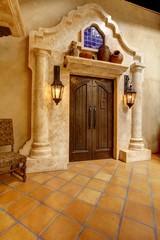 Mormon Battalion Historic site, San Diego. Entrance door with co
