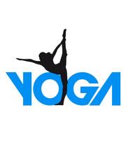 Yoga Übung Frau Logo Design
