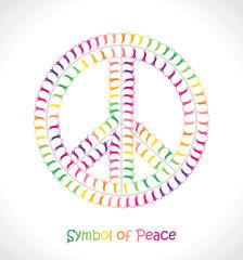 Symbol of Peace. Rainbow people.