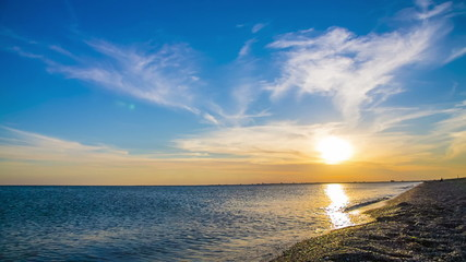 Relaxing Summer Sunset At the Beach