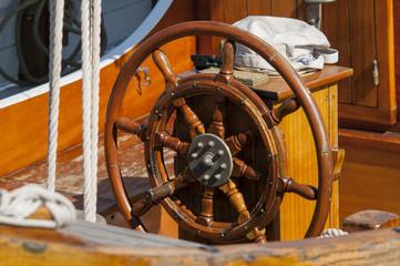 Steering wheel wooden