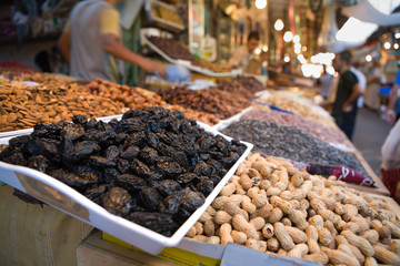 Selling dried fruits © juan_aunion