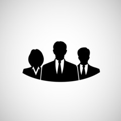 silhouettes of businessmen web icon
