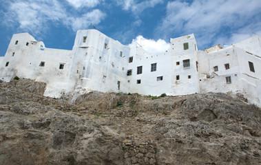 White houses on the mountain