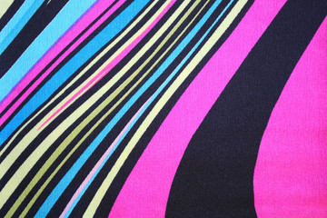 Colorful fabric ribbon samples