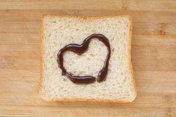 Heart on bread