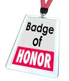 Badge of Honor Words Employee Pride Proud Distinction poster