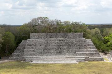 flat-top Mayan pyramid