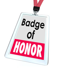 Badge of Honor Words Employee Pride Proud Distinction