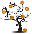 Jack-o-lantern tree in Halloween festival, create by vector - 70013167