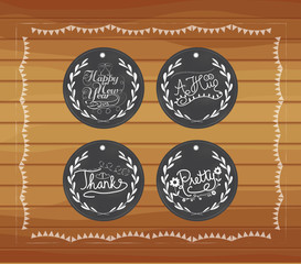 Chalkboard gift tags hand drawn vintage