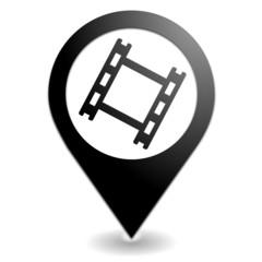 diapositive sur symbole localisation noir