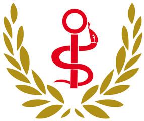 logo infirmier et couronne de laurier