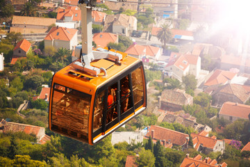Funicular cable car in Dubrovnik