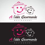 restaurant restauration cantine toque fourchette logo