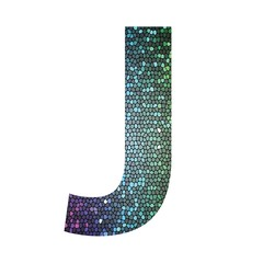 letter J of different colors