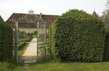 Chateau XVIIé, jardins, buis, Cormatin, 71, saone et loire