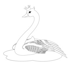 The Swan Princess Coloring Book Page