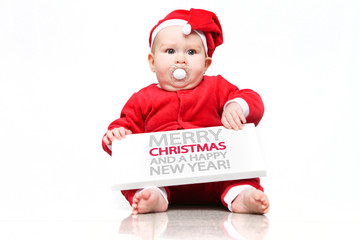 Weihnachtsmann Baby 1 Schrift