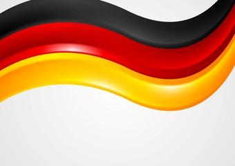 Wavy German colors background. Flag design