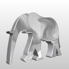 Logo 3D elefante