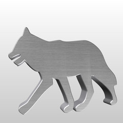 Logo 3D lupo