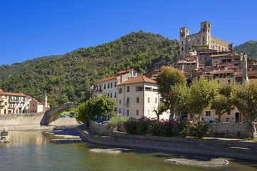 the beautiful small town of Dolceacqua, near Sanremo, Liguria, I