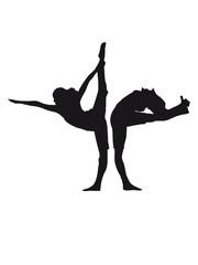 yoga 2 frauen