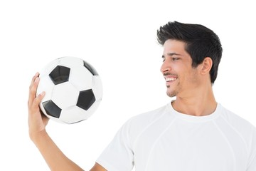 Close-up of a happy football fan